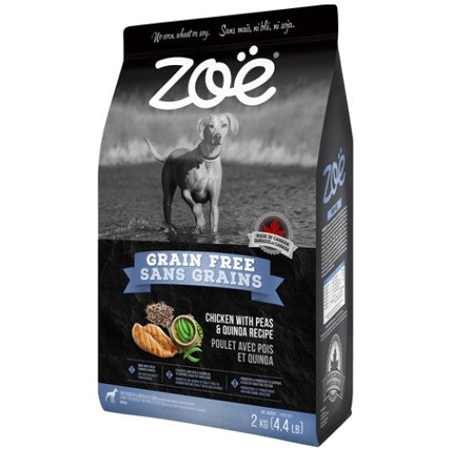 Zoe, Dog Dry Food, Grain Free, Chicken with Peas & Quinoa