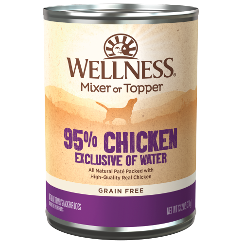 Wellness Complete Health, Dog Food,  Mixers & Toppers, Grain Free, 95% Chicken