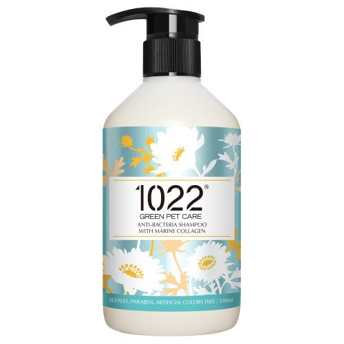 1022 Green Pet Care, Dog & Cat Hygiene, Shampoos & Conditioners, Anti-Bacteria Shampoo with Marine Collagen