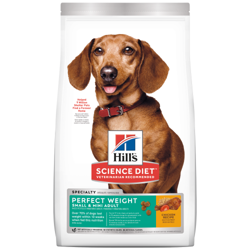 Hill's Science Diet, Dog Dry Food, Adult, Perfect Weight, Small & Mini Adult, Chicken (1 Size)