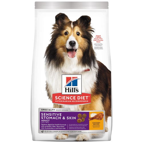 Hill's Science Diet, Dog Dry Food, Adult, Sensitive Stomach & Skin, Chicken (2 Sizes)