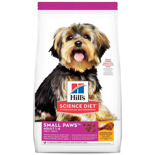 Hill's Science Diet, Dog Dry Food, Adult, Small Paws, Chicken Meal & Rice (2 Sizes)