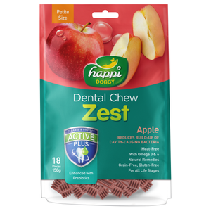 Happi Doggy, Dog Hygiene, Oral & Dental Care, Zest Dental Chew, Apple