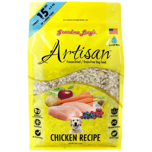 Grandma Lucy's, Dog Food, Freeze Dried, Grain Free, Artisan Chicken