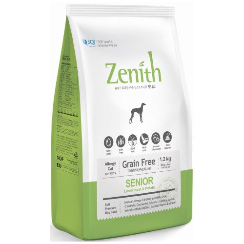 BowWow, Dog Dry Food, Zenith, Soft Kibble, Light & Senior, Lamb & Potato