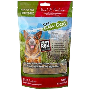 OC Raw, Dog Food, Mixers & Toppers, Freeze Dried, Meaty Rox, Beef