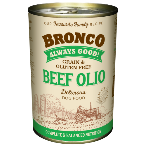 Bronco, Dog Wet Food, Grain Free, Olio Beef