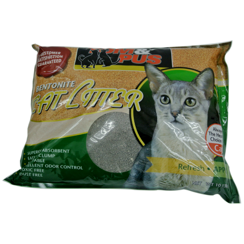 Tom & Pus, Cat Hygiene, Litter, Bentonite Cat Sand, Apple
