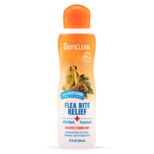 Tropiclean, Dog Healthcare, Flea & Tick, Natural Flea & Tick Bite Relief, After Bath Treatment