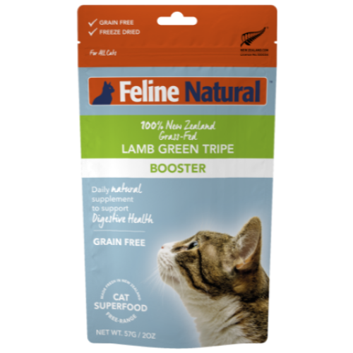 Feline Natural, Cat Food, Boosters, Freeze Dried, Lamb Green Tripe