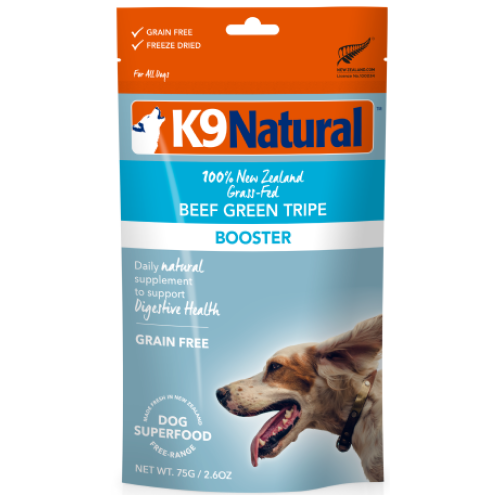 K9 Natural, Dog Food, Boosters, Freeze Dried, Beef Green Tripe