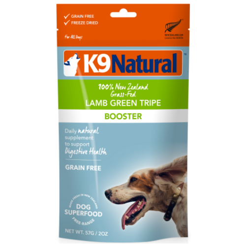 K9 Natural, Dog Food, Boosters, Freeze Dried, Lamb Green Tripe