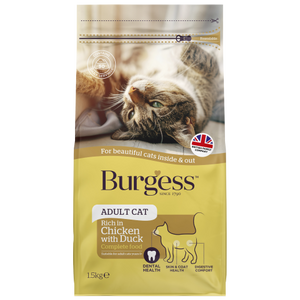 Burgess, Cat Dry Food, Adult, British Chicken with Duck