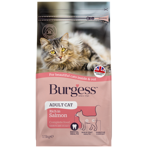 Burgess, Cat Dry Food, Adult, Scottish Salmon