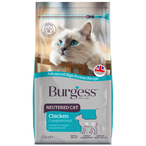 Burgess, Cat Dry Food, Neutered Cat, Chicken