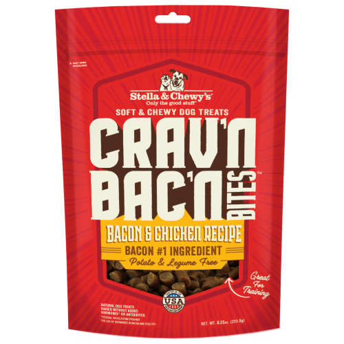 Stella & Chewy's, Dog Treats, Freeze Dried, Crav'n Bac'n Bites, Bacon & Chicken