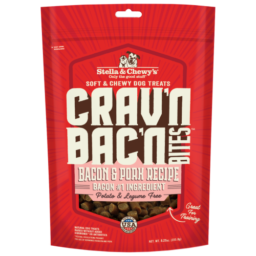 Stella & Chewy's, Dog Treats, Freeze Dried, Crav'n Bac'n Bites, Bacon & Pork