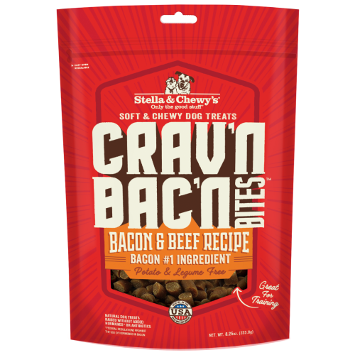 Stella & Chewy's, Dog Treats, Freeze Dried, Crav'n Bac'n Bites, Bacon & Beef