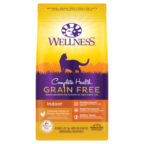 Wellness Complete Health, Cat Dry Food, Grain Free, Indoor, Deboned Chicken & Chicken Meal