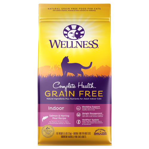Wellness Complete Health, Cat Dry Food, Grain Free, Indoor, Salmon & Herring Meal