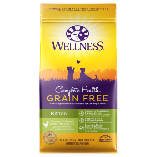 Wellness Complete Health, Cat Dry Food, Grain Free, Kitten, Deboned Chicken & Chicken Meal