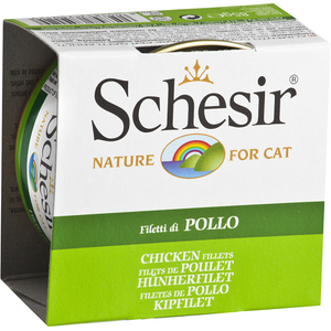 Schesir, Cat Wet Food, Jelly, Chicken Fillets (By Carton)