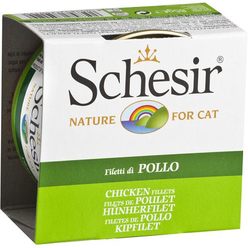 Schesir, Cat Wet Food, Jelly, Chicken Fillets