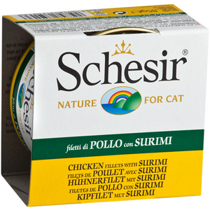 Schesir, Cat Wet Food, Jelly, Chicken Fillets with Surimi (By Carton)
