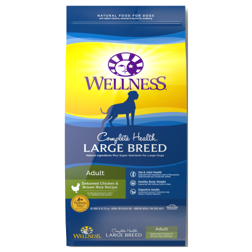 Wellness Complete Health, Dog Dry Food, Large Breed, Deboned Chicken & Brown Rice