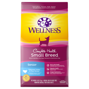 Wellness Complete Health, Dog Dry Food, Small Breed, Senior, Deboned Turkey & Peas
