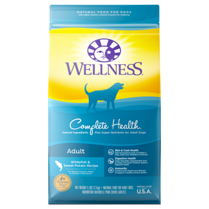 Wellness Complete Health, Dog Dry Food, Whitefish & Sweet Potato