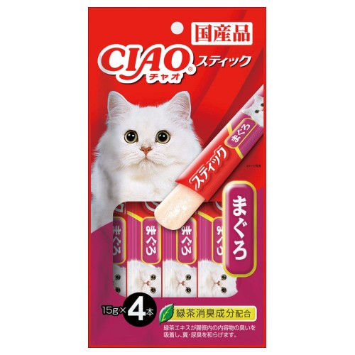 Ciao, Cat Treats, Stick In Jelly, Maguro (Tuna)