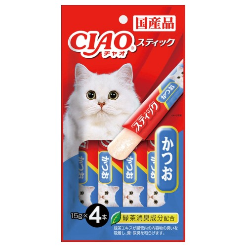 Ciao, Cat Treats, Stick In Jelly, Katsuo (Tuna)