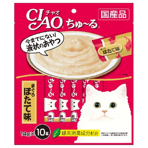 Ciao, Cat Treats, Churu, White Meat Tuna Scallop