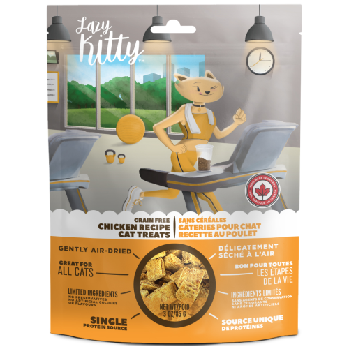 Canadian Jerky, Cat Treats, Air Dried, Lazy Kitty, Grain Free Chicken