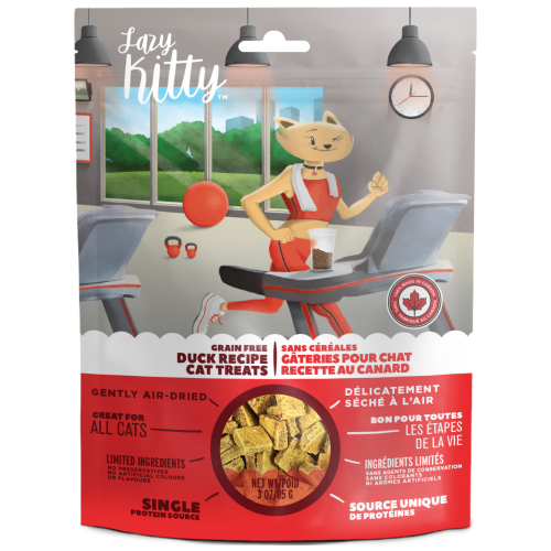 Canadian Jerky, Cat Treats, Air Dried, Lazy Kitty, Grain Free Duck