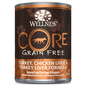Wellness Core, Dog Wet Food, Grain Free, Pate, Turkey, Chicken & Turkey Liver
