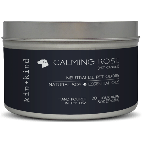 Kin+Kind, Dog & Cat Hygiene, Others, Calming Rose Pet Odour Neutralising Candle
