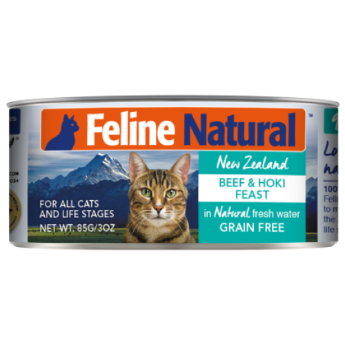 Feline Natural, Cat Wet Food, Beef & Hoki (By Carton)