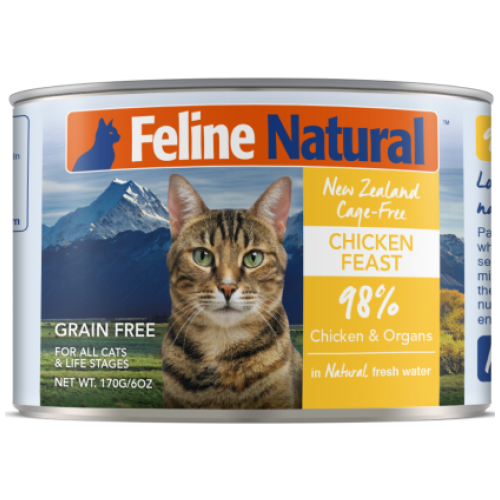 Feline Natural, Cat Wet Food, 30% Off 3 Sets of 12 Cans of 170g (7 Types)