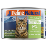 Feline Natural, Cat Wet Food, Chicken & Lamb (By Carton)