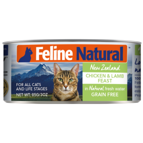 Feline Natural, Cat Wet Food, Chicken & Lamb