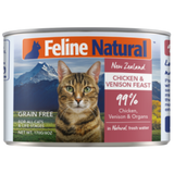 Feline Natural, Cat Wet Food, Chicken & Venison (By Carton)