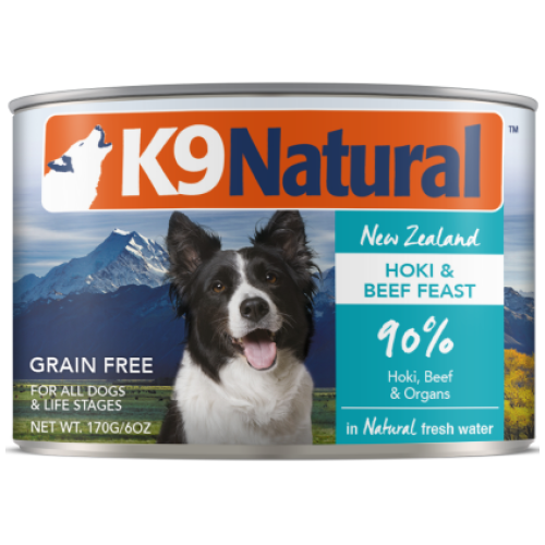 K9 Natural, Dog Wet Food, Hoki & Beef (By Carton)