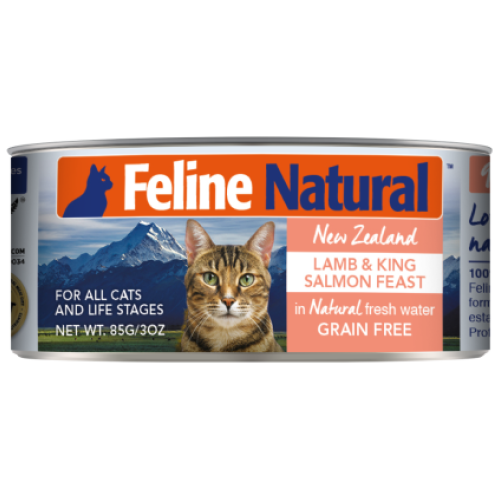 Feline Natural, Cat Wet Food, Lamb & Salmon (By Carton)