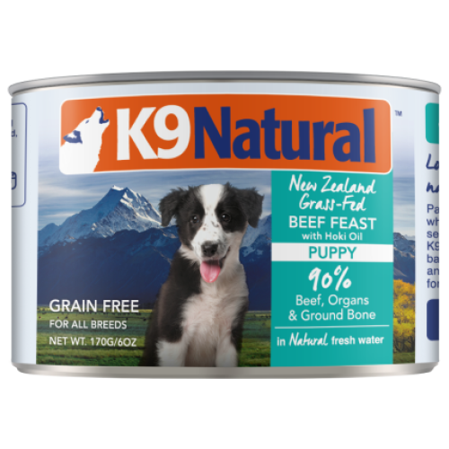 K9 Natural, Dog Wet Food, Puppy, Beef & Hoki (By Carton)