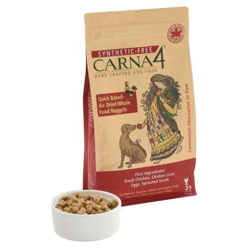 Carna4, Dog Dry Food, Air Dried, Grain Free, Chicken