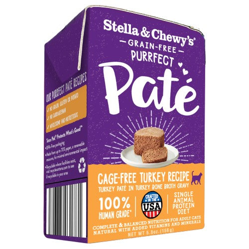 Stella & Chewy's, Cat Wet Food, Puurfect Pate, Cage-Free Turkey