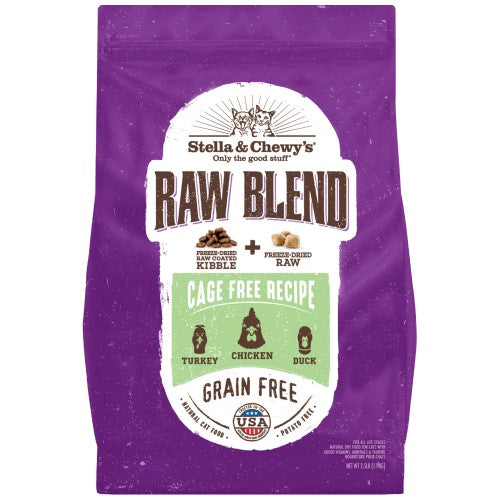 Stella & Chewy's, Cat Food, Freeze Dried Raw Coated Baked Kibble, Raw Blend, Turkey, Chicken & Duck (2 Sizes)