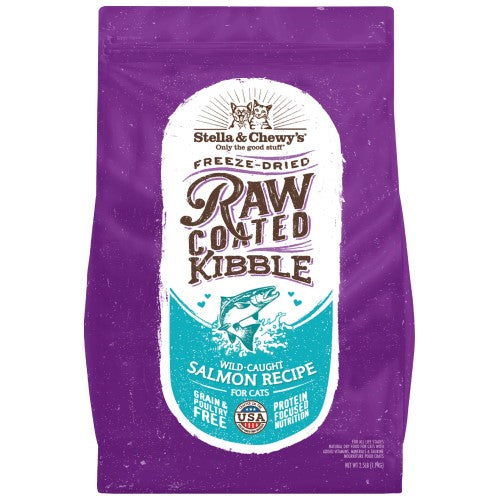 Stella & Chewy's, Cat Food, Freeze Dried Raw Coated Baked Kibble, Wild-Caught Salmon (2 Sizes)